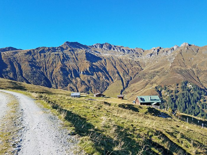 Ausblick von der Felding Hütte